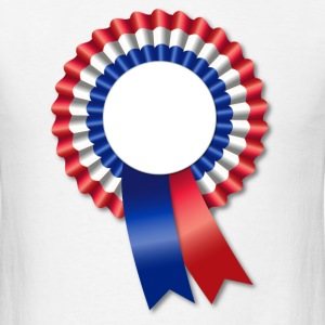Tri-Color Rosette and Ribbon Template T-Shirts - Men's T-Shirt