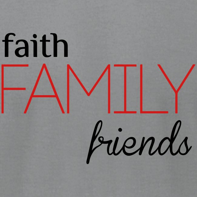 Faith, Family, Friends Men's T-Shirt by Alexis Bellino