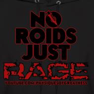 Design ~ No Roids Black Text HOODIE