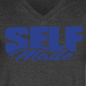 SELF MADE T-Shirts - Men's V-Neck T-Shirt by Canvas