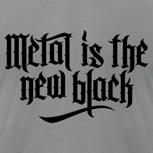 Metal is new the black 1 T-Shirts - Men's T-Shirt by American Apparel