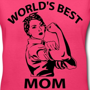 worlds best Women's T-Shirts - Women's V-Neck T-Shirt