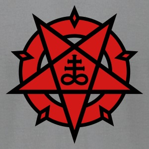 Pentagram + Satan's Cross No.1_2c T-Shirts - Men's T-Shirt by American Apparel