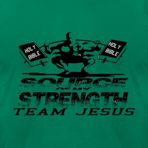 SOURCE OF MY STRENGTH - Men's T-Shirt by American Apparel