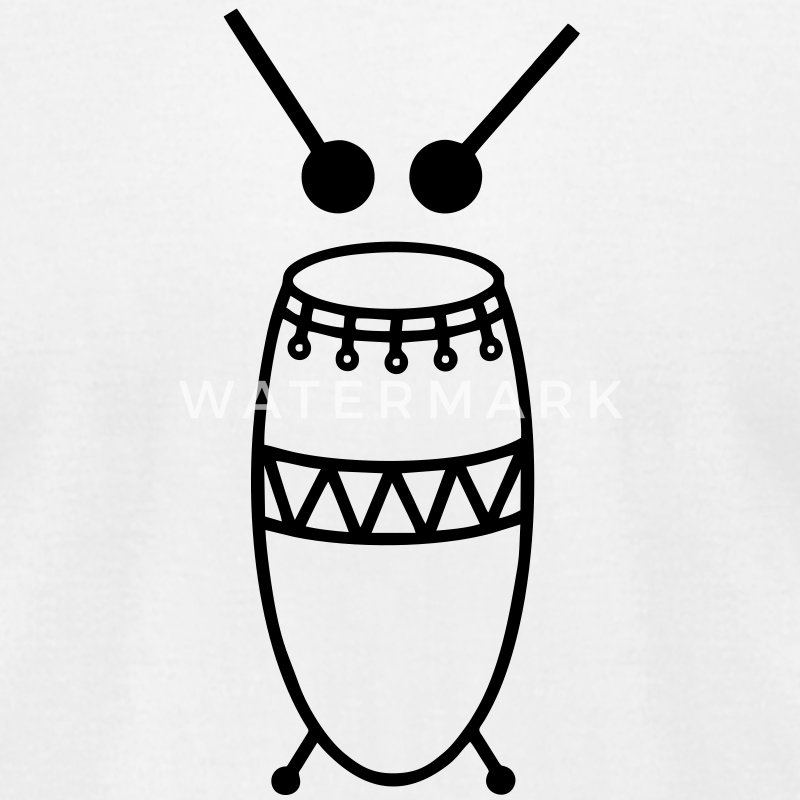 African drum T-Shirts - Men's T-Shirt by American Apparel