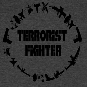 Terrorist Fighter - Men's V-Neck T-Shirt by Canvas