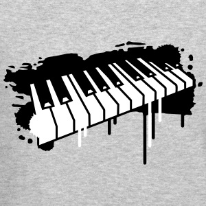 Piano keyboard in graffiti style Long Sleeve Shirts - Crewneck Sweatshirt