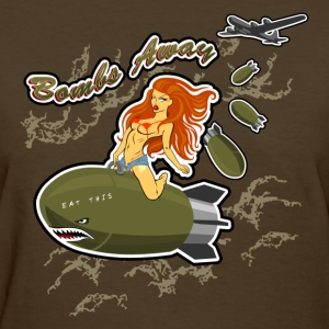 Bomb Riding Pinup Girl - Women's T-Shirt