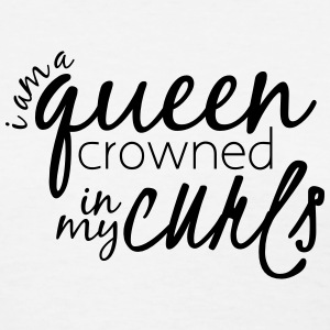 Crowned In My Curls Length Check Shirt - Women's T-Shirt