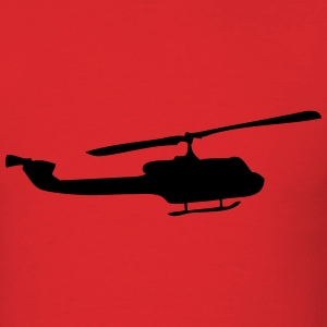 Helicopter silhouette - Men's T-Shirt
