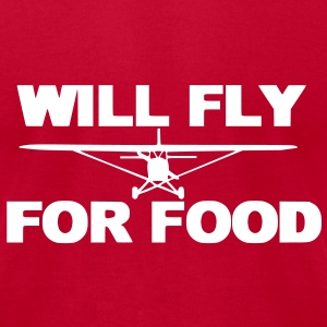 will_fly_for_food_cessna T-Shirts - Men's T-Shirt by American Apparel