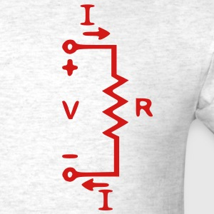 Geek Speak, Ohm's Law IV (Red) - Men's T-Shirt