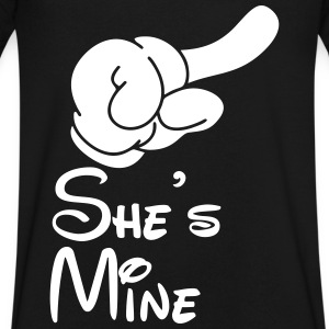 She's Mine T-Shirts - Men's V-Neck T-Shirt by Canvas