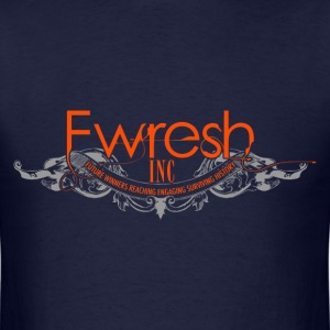 fwresh hair salon spa & barber shop logo. T-Shirts - Men's T-Shirt