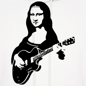 Mona lisa with a guitar Hoodies - Men's Hoodie