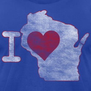I Heart Wisconsin Milwaukee Mart T-Shirts - Men's T-Shirt by American Apparel