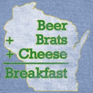 Beer Brats Cheese Breakfast Milwaukee Mart T-Shirts - Unisex Tri-Blend T-Shirt by American Apparel