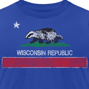 Wisconsin Republic Milwaukee Mart T-Shirts - Men's T-Shirt by American Apparel