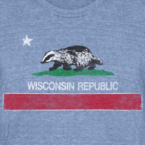 Wisconsin Republic Milwaukee Mart - Unisex Tri-Blend T-Shirt by American Apparel