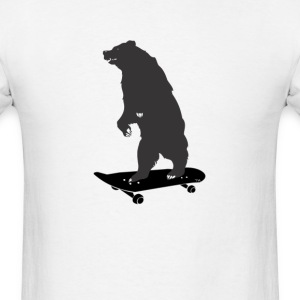 skater bear skateboard dude T-Shirts - Men's T-Shirt