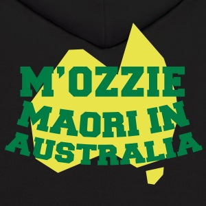 M'OZZIE Maori in Australia Aussie map design Hoodies - Men's Hoodie