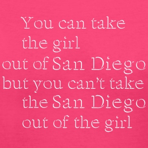 Take The Girl Out Of San Diego Shirt Diego Women's T-Shirts - Women's V-Neck T-Shirt