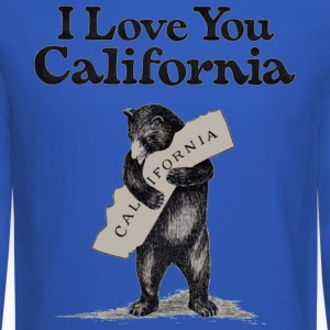 I Love You CA Shirt Diego Long Sleeve Shirts - Crewneck Sweatshirt