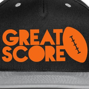 great score! Rugby AFL long ball Caps - Snap-back Baseball Cap