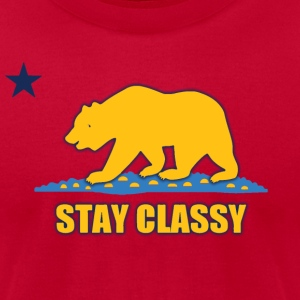 Stay Classy Bear Shirt Diego T-Shirts - Men's T-Shirt by American Apparel