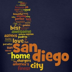 San Diego Words Shirt Diego T-Shirts