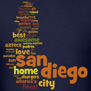 San Diego Words Shirt Diego T-Shirts - Men's T-Shirt