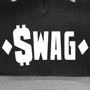 swag $WAG with dollars and diamonds Caps - Snap-back Baseball Cap