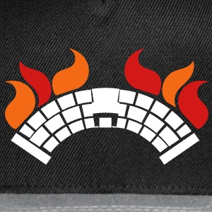 A BURNING Bridge with fire Caps - Snap-back Baseball Cap