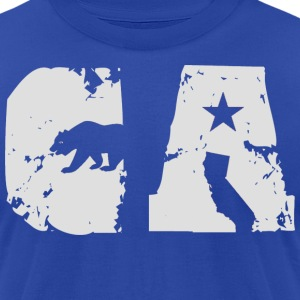 CA Bear Shirt Diego T-Shirts - Men's T-Shirt by American Apparel