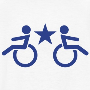 wheelchair enabled people in wheelchairs access  Kids' Shirts - Kids' T-Shirt