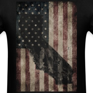 Cali USA Flag Shirt Diego T-Shirts - Men's T-Shirt