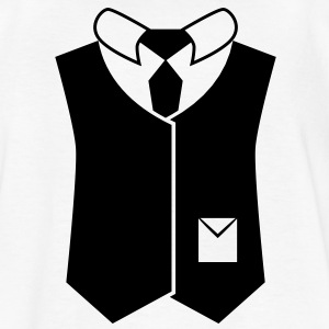 suit vest jacket with pocket waistcoat business Kids' Shirts - Kids' T-Shirt