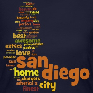 San Diego Words Shirt Diego Long Sleeve Shirts - Women's Long Sleeve Jersey T-Shirt