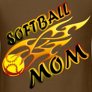 Softball Mom (flame) T-Shirts - Men's T-Shirt