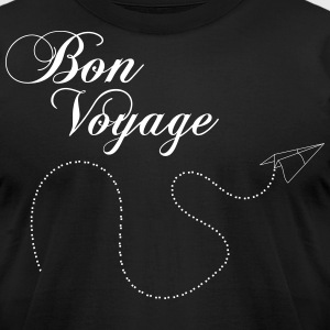 Bon Voyage Origami airplane plane 1c T-Shirts - Men's T-Shirt by American Apparel