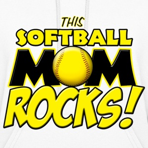 This Softball Mom Rocks Hoodies - Women's Hoodie