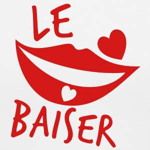 le baiser FRENCH for the KISS! Women's T-Shirts - Women's V-Neck T-Shirt