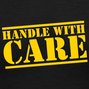 HANDLE with CARE in stencil Women's T-Shirts - Women's V-Neck T-Shirt