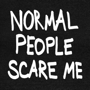 normal people scare me Long Sleeve Shirts - Women's Wideneck Sweatshirt