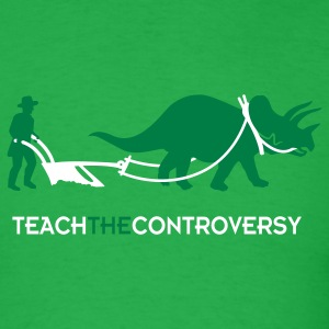 dino-Human Coexistence (Teach the Controversy) T-Shirts - Men's T-Shirt