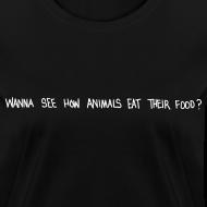 Design ~ Animals Text T-Shirt (women)