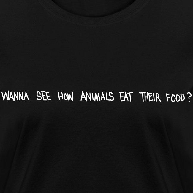 Animals Text T-Shirt (women)