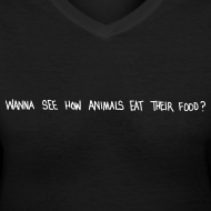 Design ~ Animals Text V-NECK (women)