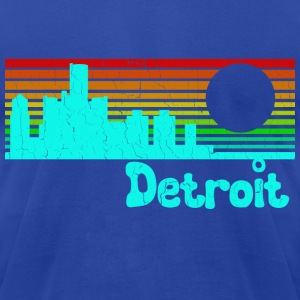 1980s Retro Vintage Detroit - Men's T-Shirt by American Apparel