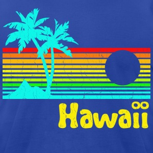 1980s Retro Vintage Hawaii - Men's T-Shirt by American Apparel